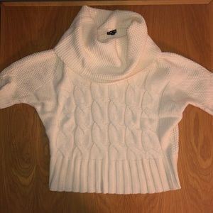 Express short sleeve cowl neck sweater